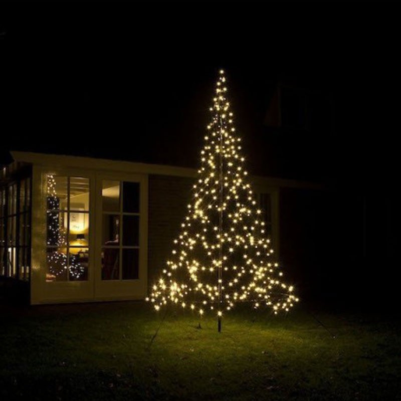 Christmas Tree Facile Montaggio 3,00 Mt 360LED Bianco caldo Flashing