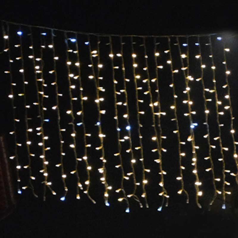Tenda luminosa led natale Caldo flash 200x700