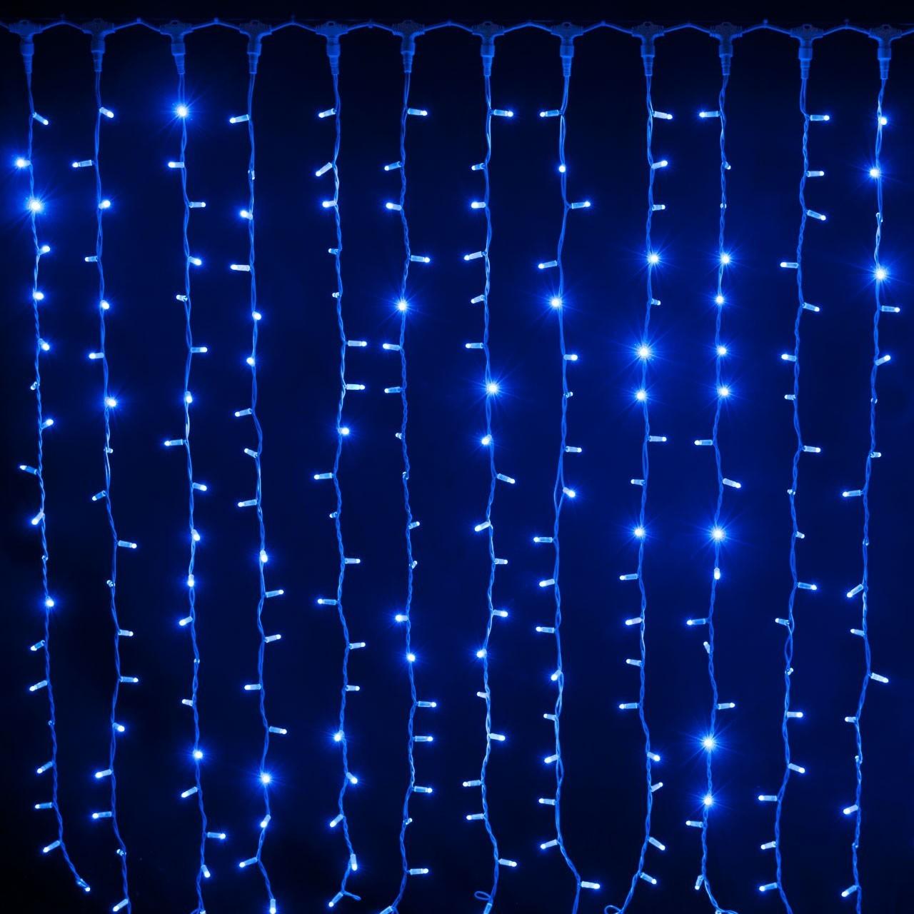 Tenda led 2X1,50 m Blu flash