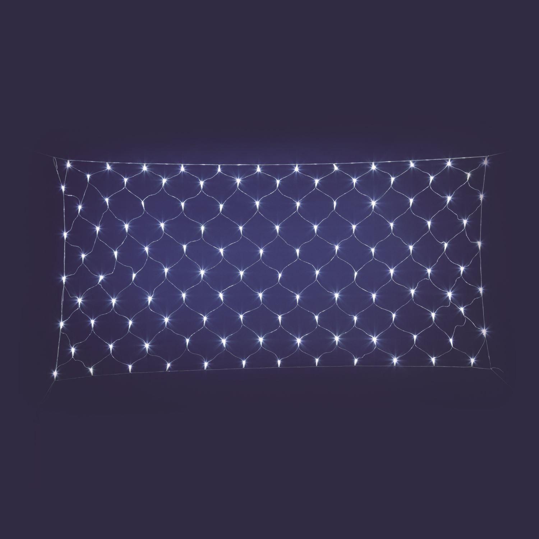 Rete Luminosa PLB 120 LED Colore Bianco Ghiaccio Da Esterno, 200x100 cm, Alimentazione 30V (Non Inclusa)