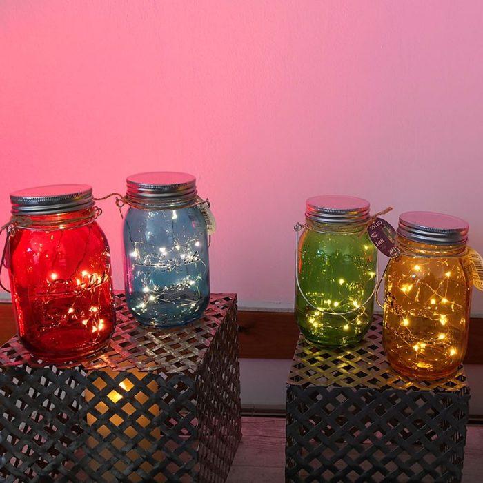 Barattolo in vetro colorato