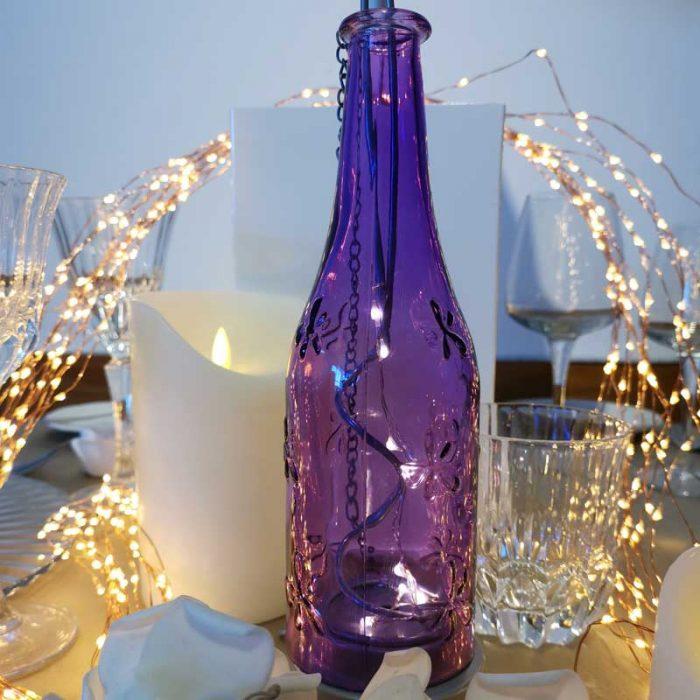 Bottiglia Luminosa Viola