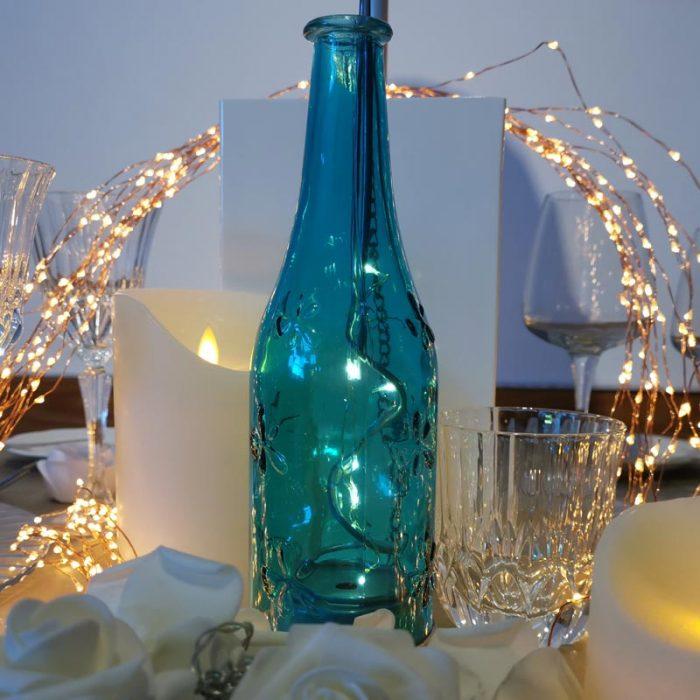 Bottiglia Luminosa Azzurra