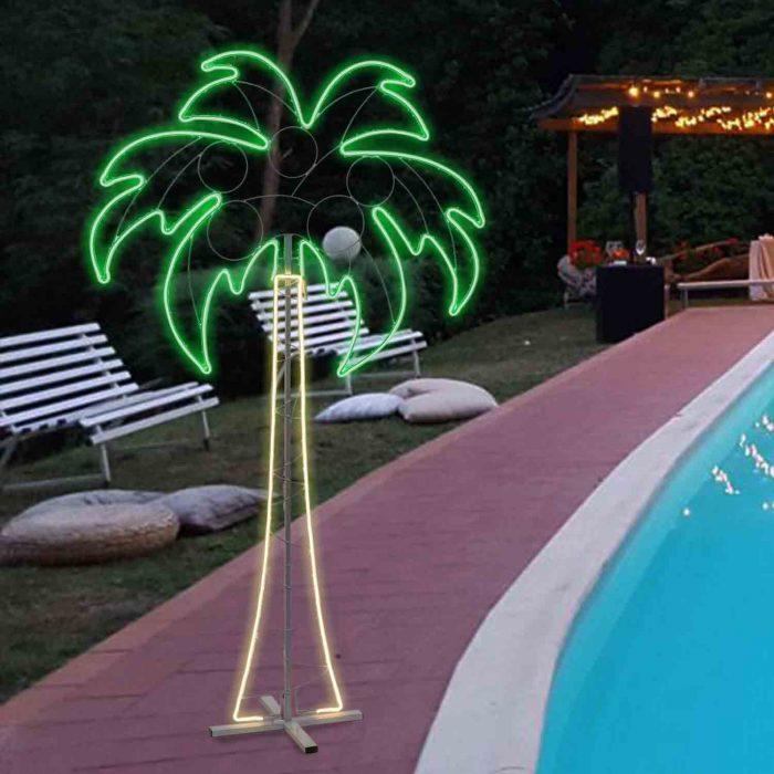 Palma in Neon Bifacciale