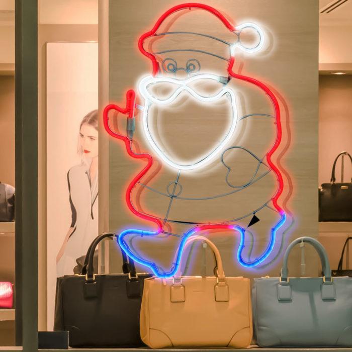 Babbo Natale Neon Bifacciale