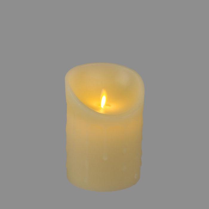 Candela LED cera avorio
