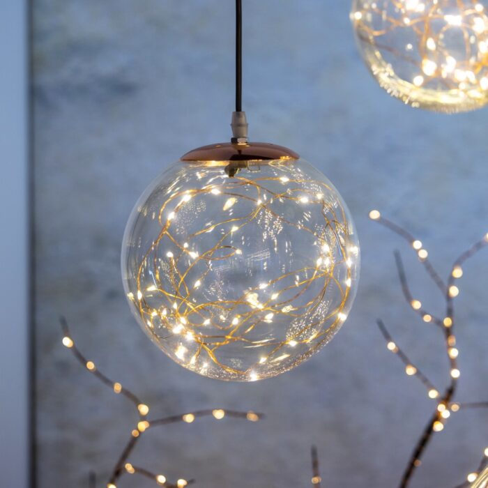 Lampada sfera vetro microLED